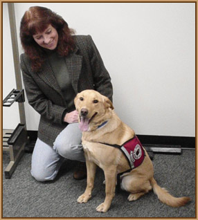 Friday and Kathy (Service Dog in training)